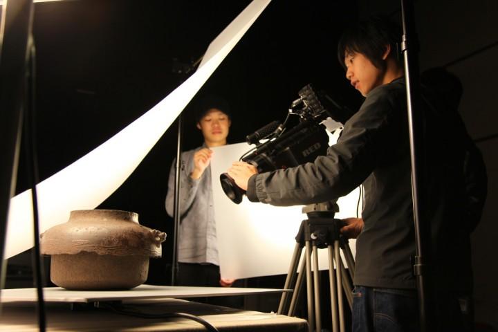 九州国立博物館のデジタルアーカイブ 撮影風景 / 金 大雄 准教授