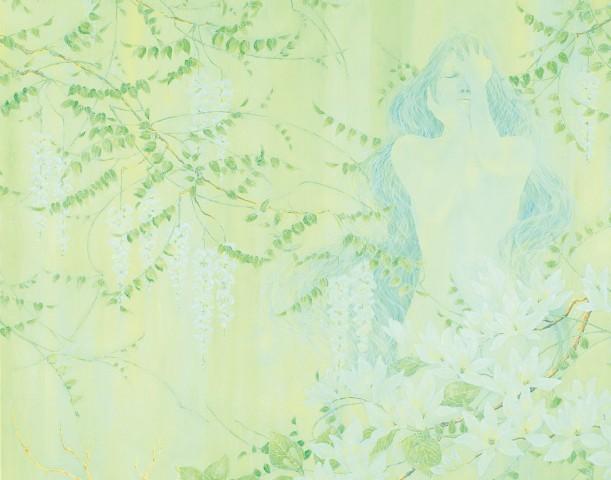 池田 真知子/《追想》227×227cm,2013年 国展絵画部入選 / 知足 美加子 准教授